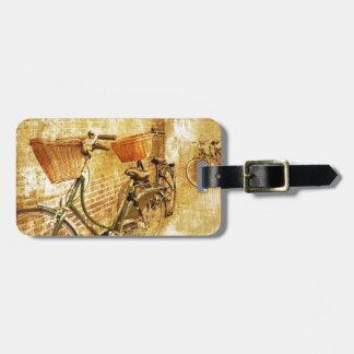 Étiquette À Bagage Bicyclette vintage moderne française romantique de