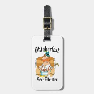 Étiquette À Bagage Bière Meister d'Oktoberfest