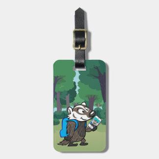 Étiquette À Bagage Blaireau Selfie de boomer du raton laveur | de
