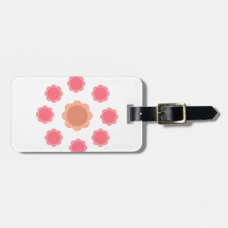 Étiquette À Bagage Blanc de rose de mandala de conception