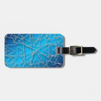 Étiquette À Bagage Bleu #2 abstrait