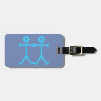 Étiquette À Bagage Bleu d'art d'icône d'hommes d'amour