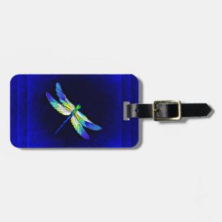 Étiquette À Bagage Bleu électrique de libellule - personnalisez avec