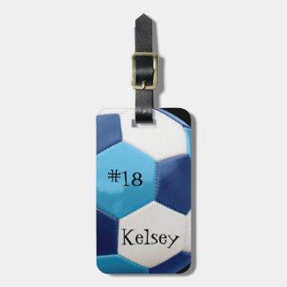 Étiquette À Bagage Bleu et marine, étiquette de sac du football