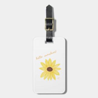 Étiquette À Bagage Bonjour étiquette de bagage de soleil