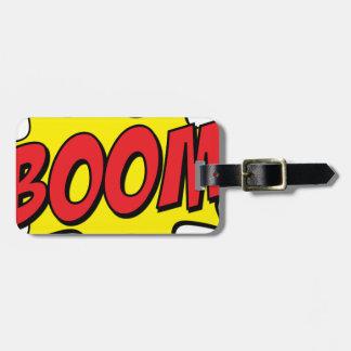 Étiquette À Bagage Boom comique