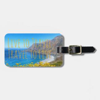 Étiquette À Bagage Bord de la mer de voyage