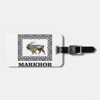Étiquette À Bagage Cadre fleuri de Markhor