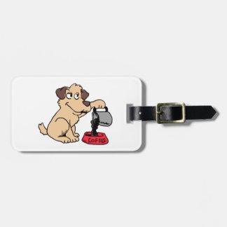 Étiquette À Bagage Café de portion de chien