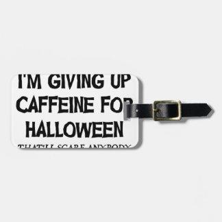 Étiquette À Bagage Caféine pour Halloween
