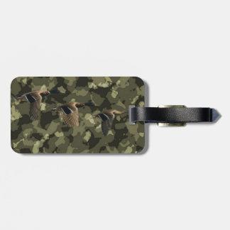 Étiquette À Bagage Canard militaire extérieur de canard de camouflage