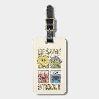 Étiquette À Bagage Caractère de StreetVintage de sésame comique