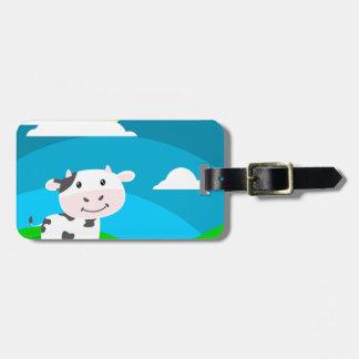 Étiquette À Bagage Caractère de vache