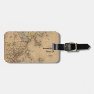 Étiquette À Bagage Carte de Boston 1861
