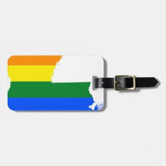 Étiquette À Bagage Carte de drapeau de la Louisiane LGBT