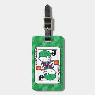 Étiquette À Bagage Carte de jeu de joker de Chibi