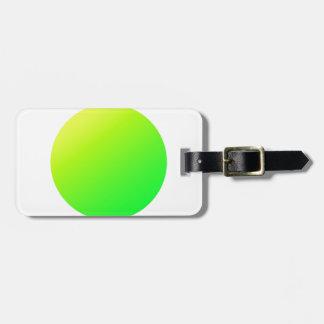 Étiquette À Bagage Cercle vert