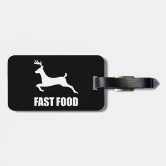 Étiquette À Bagage Chasse de cerfs communs d'aliments de préparation