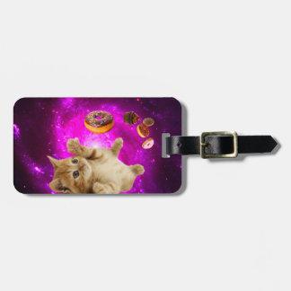 Étiquette À Bagage Chat de beignet - chat d'animal familier - chat de