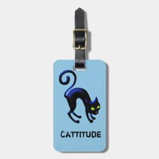 Étiquette À Bagage Chat noir Cattitude