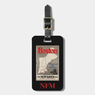 Étiquette À Bagage Chemin de fer vintage de Boston New Haven de