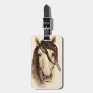 Étiquette À Bagage Cheval des animaux | de grange d'aquarelle
