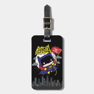 Étiquette À Bagage Chibi Batgirl prêt pour l'action