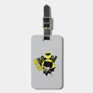 Étiquette À Bagage Chibi Batman mesurant la ville