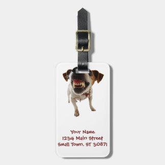 Étiquette À Bagage Chien agressif - chien fâché - chien drôle