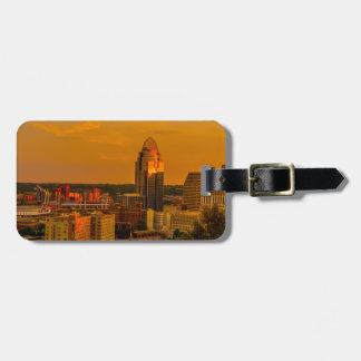 Étiquette À Bagage Cincinnati d'or