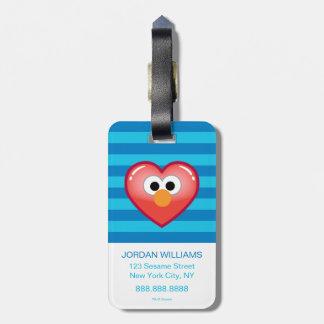 Étiquette À Bagage Coeur d'Elmo