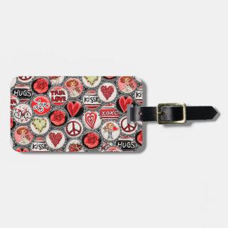 Étiquette À Bagage Coeurs de capsule de Saint-Valentin