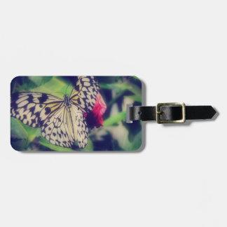 Étiquette À Bagage Collage de papillon
