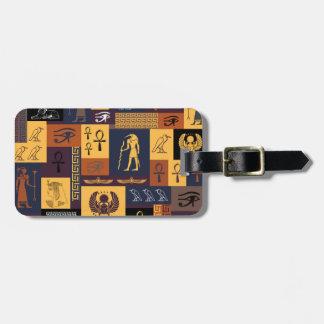 Étiquette À Bagage Collage égyptien