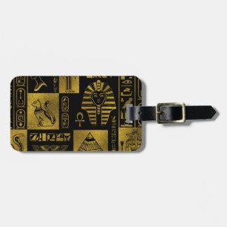 Étiquette À Bagage Collage égyptien d'hiéroglyphes et de symboles