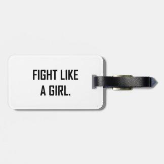 Étiquette À Bagage Combat comme une fille
