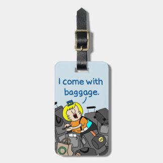 Étiquette À Bagage   comique Jetlagged je viens avec l'étiquette de