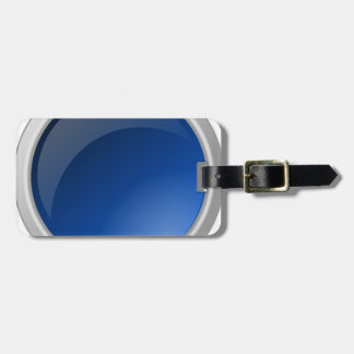 Étiquette À Bagage conception bleue de cercle de bouton