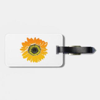 Étiquette À Bagage Conception d'art de fleur de tournesol