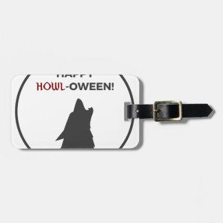 Étiquette À Bagage Conception heureuse de Halloween de loup-garou