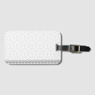 Étiquette À Bagage Conception nautique blanche d'ancre avec la corde