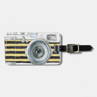 Étiquette À Bagage Conception vintage en service d'appareil-photo de