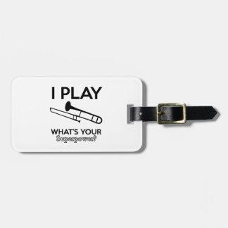 Étiquette À Bagage conceptions de trombone