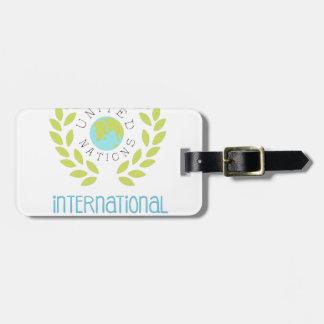 Étiquette À Bagage Conceptions internationales d'étiquette de jour de
