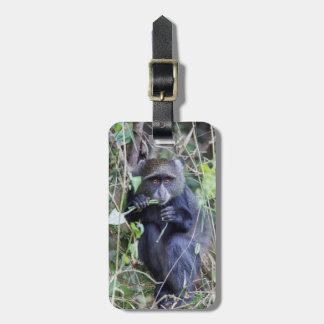 Étiquette À Bagage Consommation bleue de singe