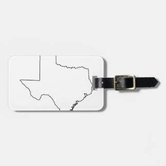 Étiquette À Bagage Contour de collection du Texas