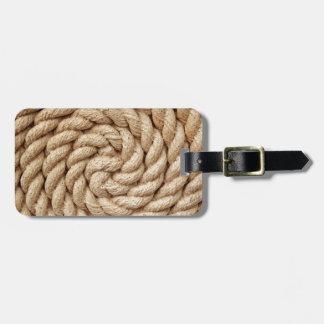 Étiquette À Bagage corde, marque ronde de conception de cercle de