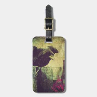 Étiquette À Bagage Corneille éffrayante de corbeau de Halloween de