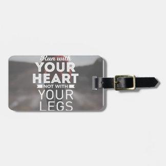 Étiquette À Bagage Courez avec votre coeur