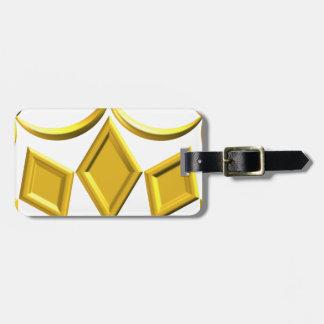 Étiquette À Bagage Couronne d'or